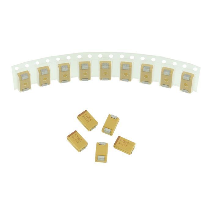 Tantal Kondensator SMD D 33µF 16V 125°C 7,3x4,3mm AVX TAJD336M016R 33uF