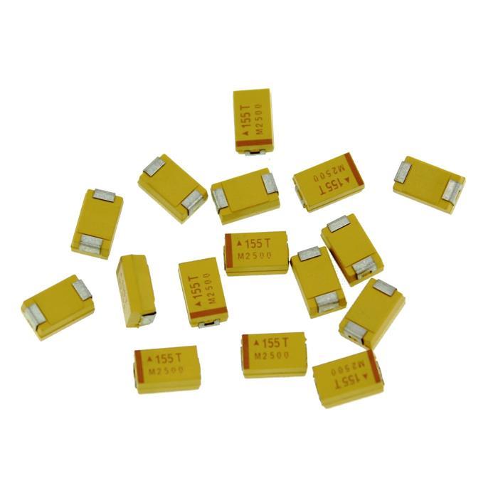 Tantal Kondensator SMD D 1,5µF 50V 125°C 7,3x4,3mm AVX TAJD155K050R 1,5uF