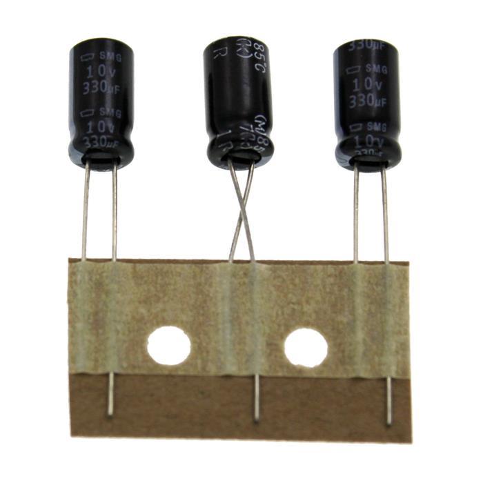 Elko Kondensator Radial 330µF 10V 85°C ESMG100ETD331MF11D d6,3x11mm 330uF