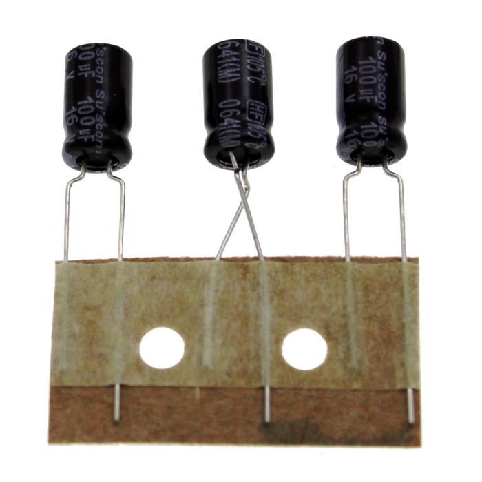 Elko Kondensator radial 100µF 16V 105°C ; HF016M101E12P50R ; 100uF