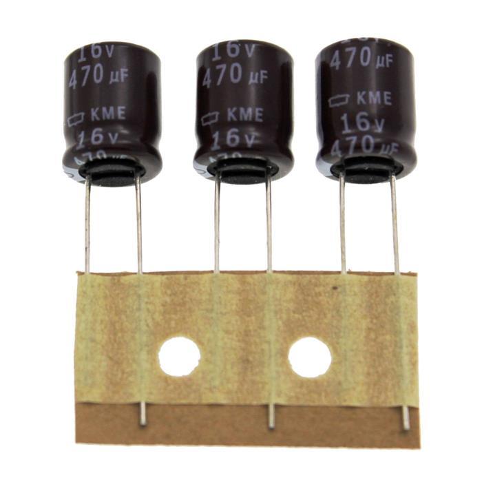 Elko Kondensator Radial 470µF 16V 105°C EKME160ETD471MJC5S d10x12,5mm 470uF