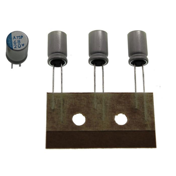 Elko Kondensator radial 68µF 20V 105°C ; APSA200ETC680MFA5S ; 68uF