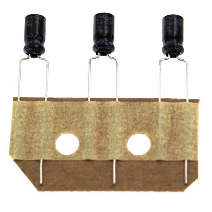 Elko Kondensator Radial 2,2µF 50V 85°C ESRA500ETC2R2MD07D d4x7mm 2,2uF