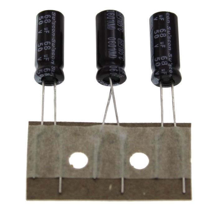Elko Kondensator Radial 68µF 50V 105°C HF050M680E15P25R d6,3x15mm 68uF