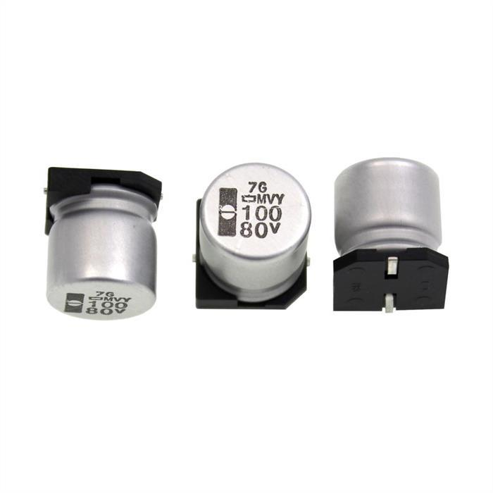 SMD Elko Kondensator 100µF 80V 105°C EMVY800ARA101MKE0S d12,5x13,5mm 100uF