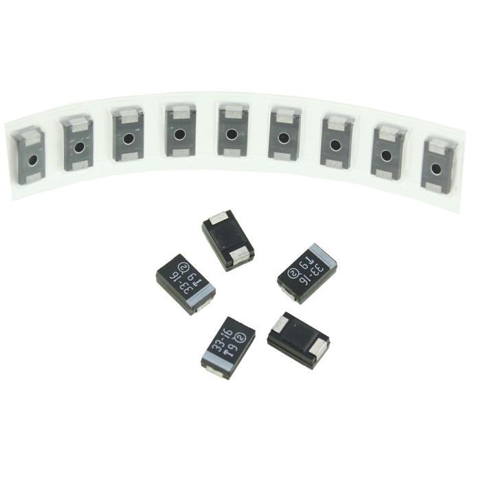 Tantal Kondensator SMD D 33µF 16V 125°C 7,3x4,3mm Vishay 293D336X9016D2T 33uF