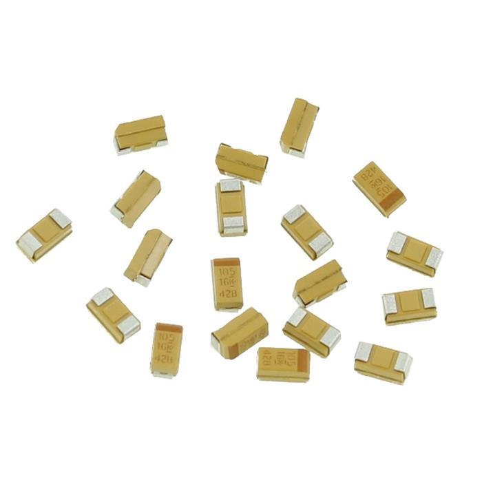 Tantal Kondensator SMD A 1µF 16V 125°C 3,2x1,6mm Kemet T491A105K016AS 1uF