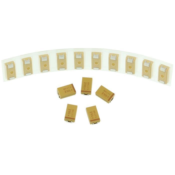 Tantal Kondensator SMD D 10µF 25V 125°C 7,3x4,3mm AVX TAJD106M025R 10uF