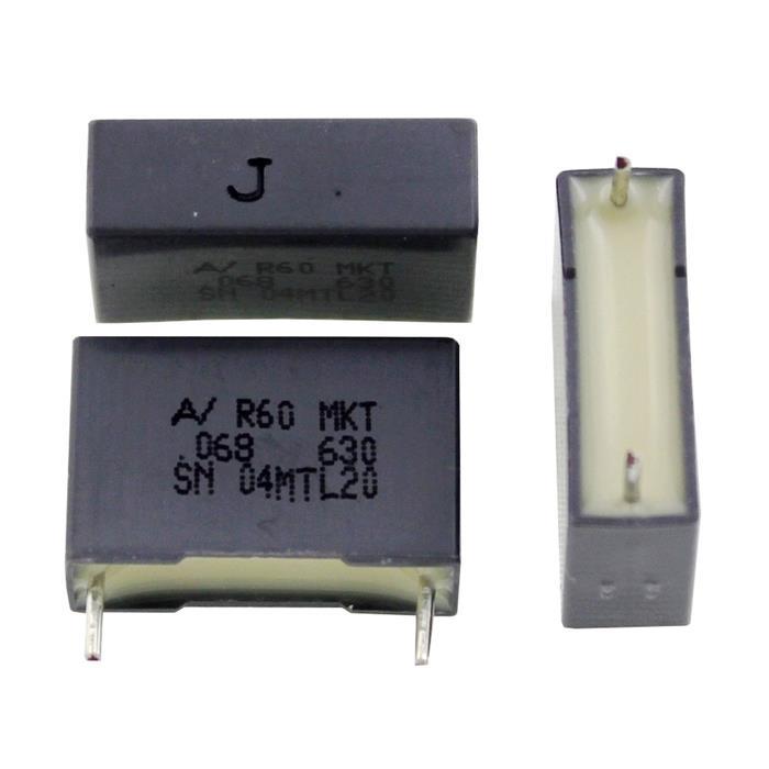 MKT Folien Kondensator Radial 0,068µF 630V DC Arcotronics R60PI2680JB30J 68nF