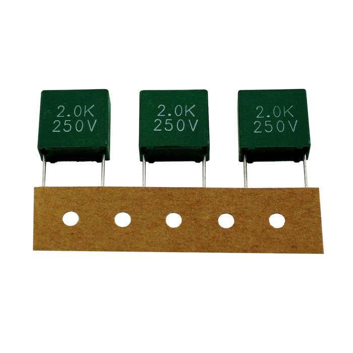 MKT Folien Kondensator Radial 2µF 250V AC Chiefcon C205K250D150BT 2000nF