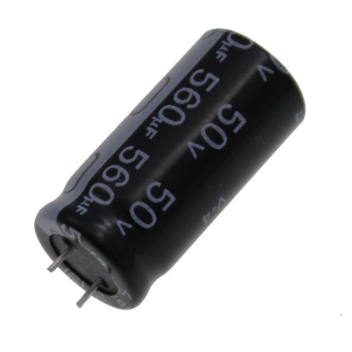 Elko Kondensator radial 560µF 50V 105°C ; ECR1HQL561MCF501225 ; 560uF