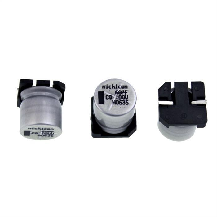 SMD Elko Kondensator 68µF 100V 105°C UCD2A680MNQ1MS d14x14mm 68uF