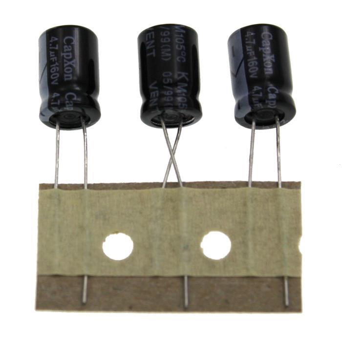 Elko Kondensator Radial 4,7µF 160V 105°C KM4.7UF160V8X12 d8x12mm 4,7uF