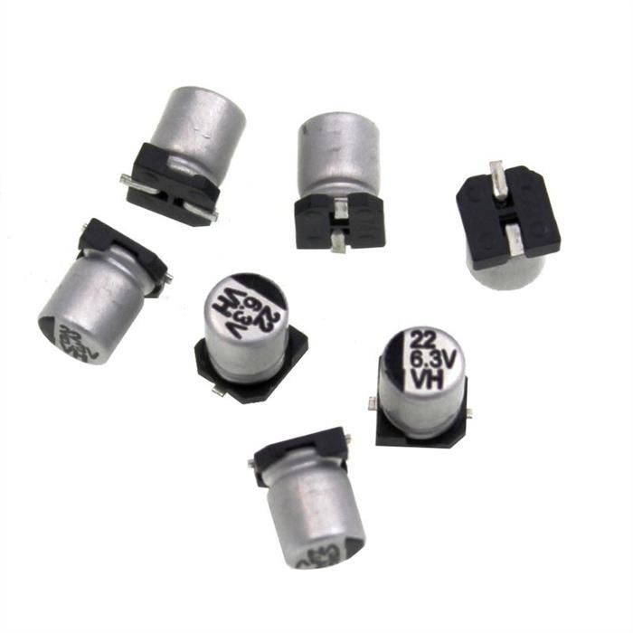 SMD Elko Kondensator 22µF 6,3V 85°C CE006M0022REB405 d4x5mm 22uF