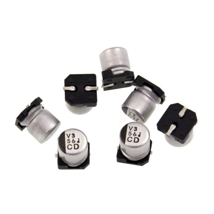 SMD Elko Kondensator 56µF 6,3V 105°C UCD0J560MCL1GS d5x5,8mm 56uF