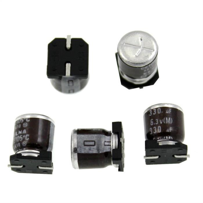 SMD Elko Kondensator 330µF 6,3V 105°C RVH6V331MG10UR d8x10mm 330uF