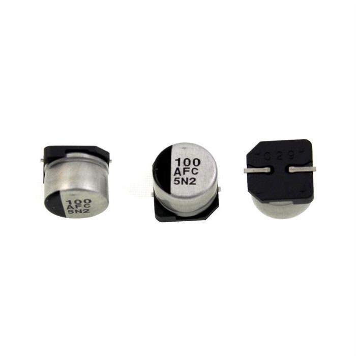 SMD Elko Kondensator 100µF 10V 105°C EEVFC1A101P d8x6,2mm 100uF