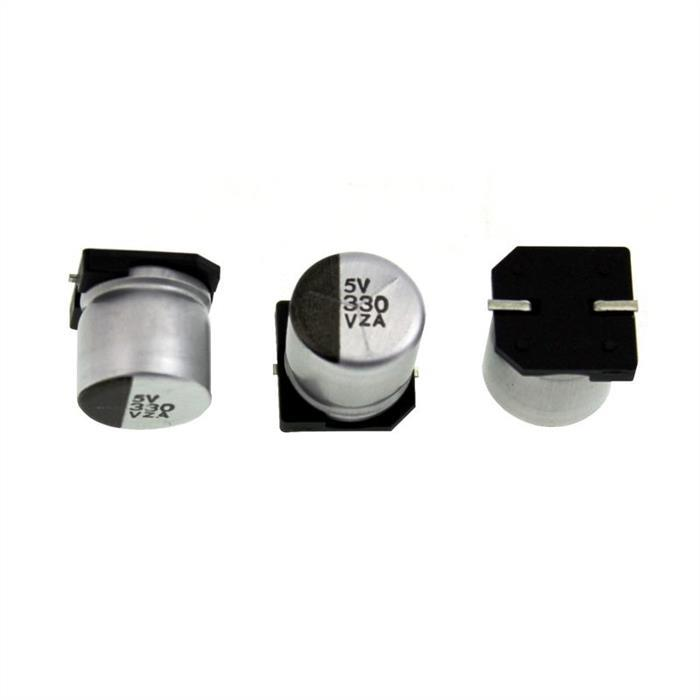 SMD Elko Kondensator 330µF 35V 105°C 2416RMZA35VC330MJ10E d10x10mm 330uF