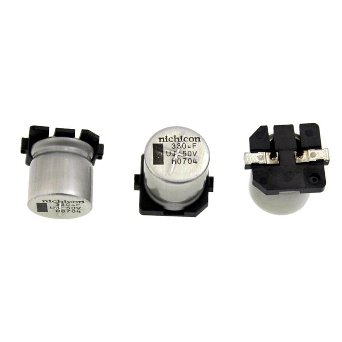 SMD Elko Kondensator 330µF 50V 105°C UUJ1H331MNR d14x14mm 330uF