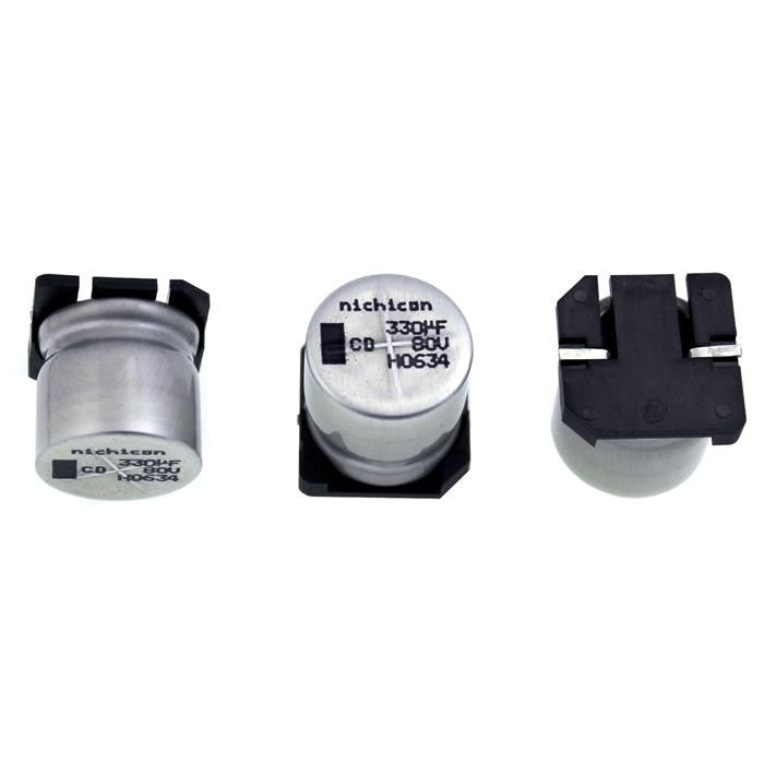 SMD Elko Kondensator 330µF 80V 105°C ; UCD1K331MNQ1MS ; 330uF