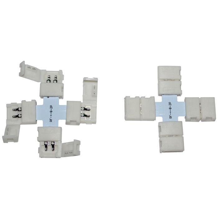 """LED Clip """"+"""" Verbinder für 8mm LED Streifen 13x5mm"""
