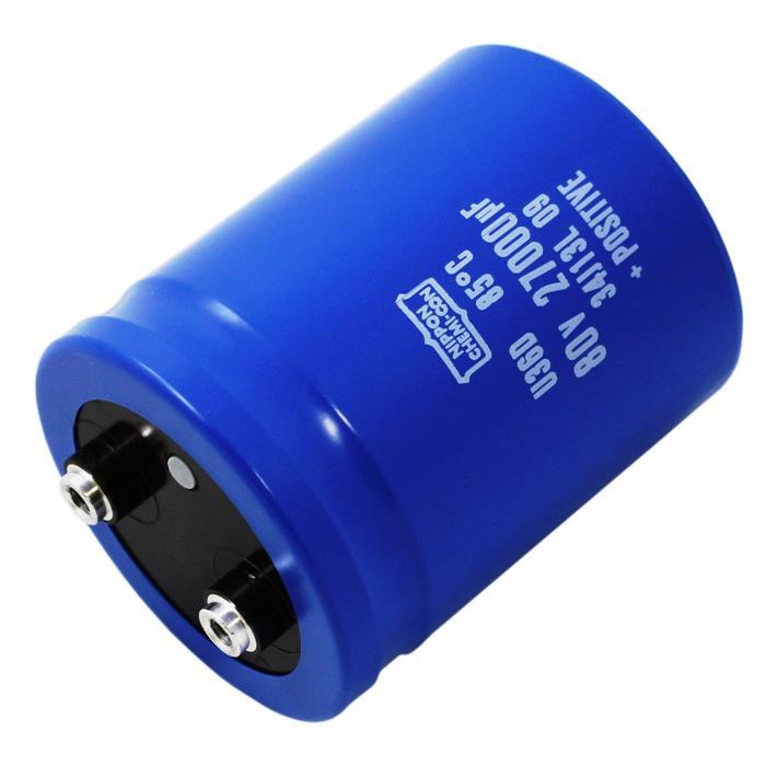 Schraub Elko Kondensator Radial 27000µF 80V 85°C E36D800HPN273MD79U d63,5x79mm 27000uF