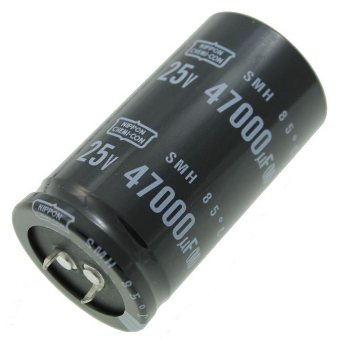 Snap-In Elko Kondensator Radial 47000µF 25V 85°C ESMH250VSN473MA63U d35x63mm 47000uF