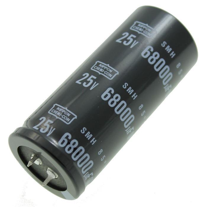 Snap-In Elko Kondensator Radial 68000µF 25V 85°C ESMH250VSN683MA80U d35x80mm 68000uF