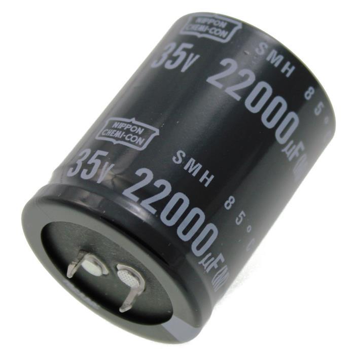 Snap-In Elko Kondensator Radial 22000µF 35V 85°C ESMH350VSN223MA45U d35x45mm 22000uF