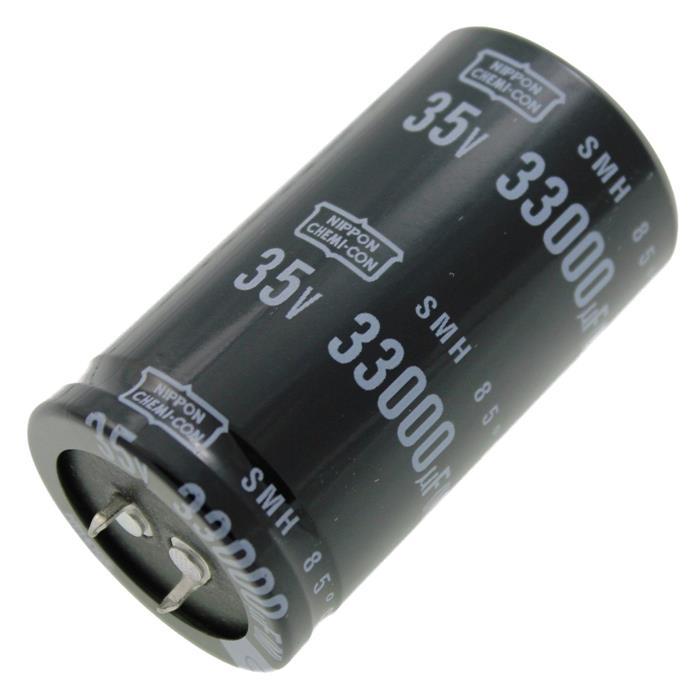 Snap-In Elko Kondensator Radial 33000µF 35V 85°C ESMH350VSN333MA63T d35x63mm 33000uF