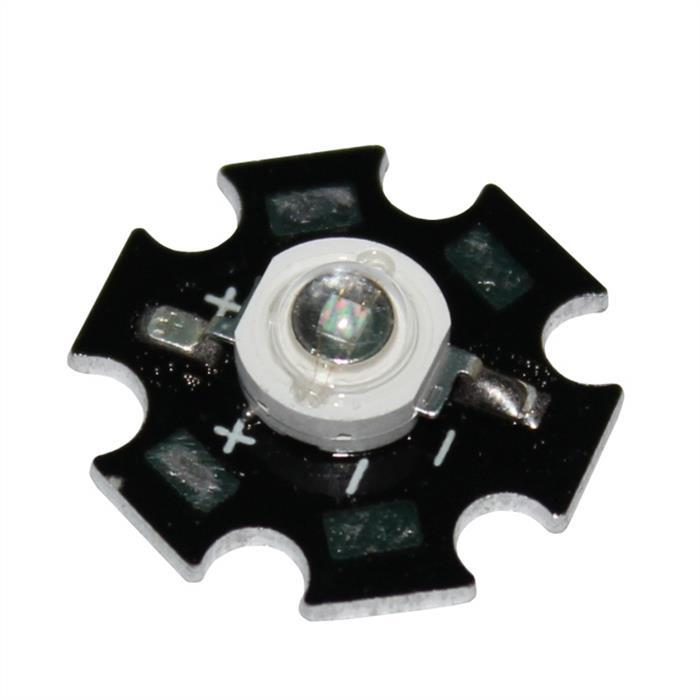 Leistungs-LED Star Ø20x6,8mm Gelb 2,1V 700mA 80…120lm 120°