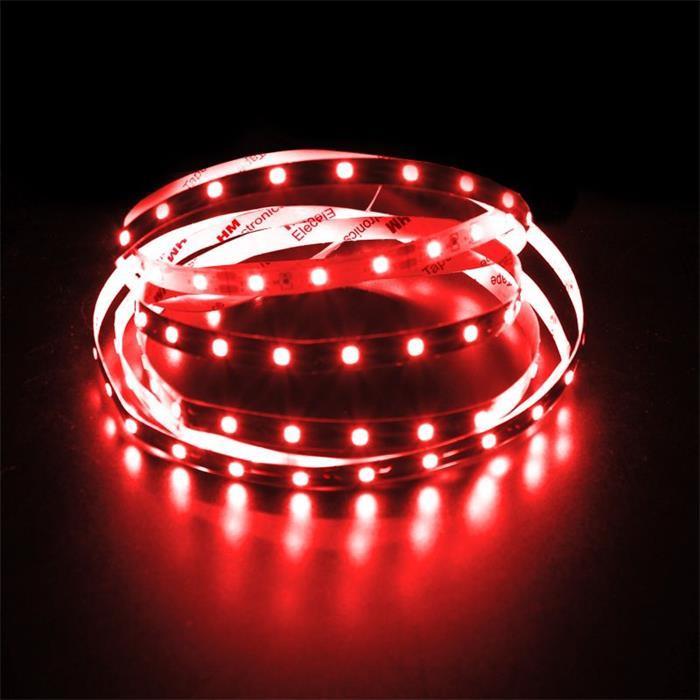 5m (500cm) LED Streifen Band Leiste 12V Rot IP20 300LEDs 60LED/m SMD3528
