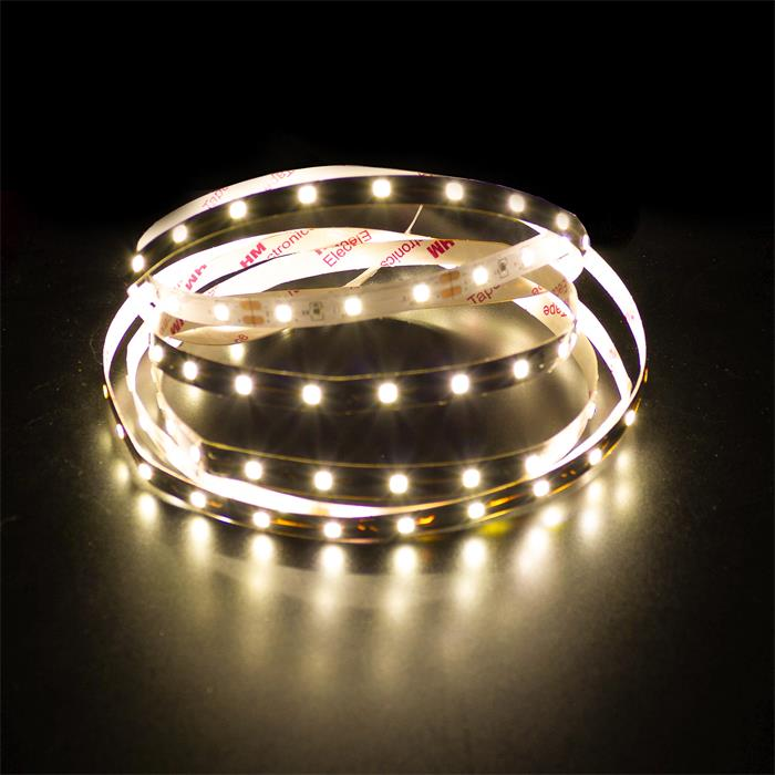 5m (500cm) LED Streifen Band Leiste 12V Warm-Weiß 3000K IP20 300LEDs 60LED/m SMD3528