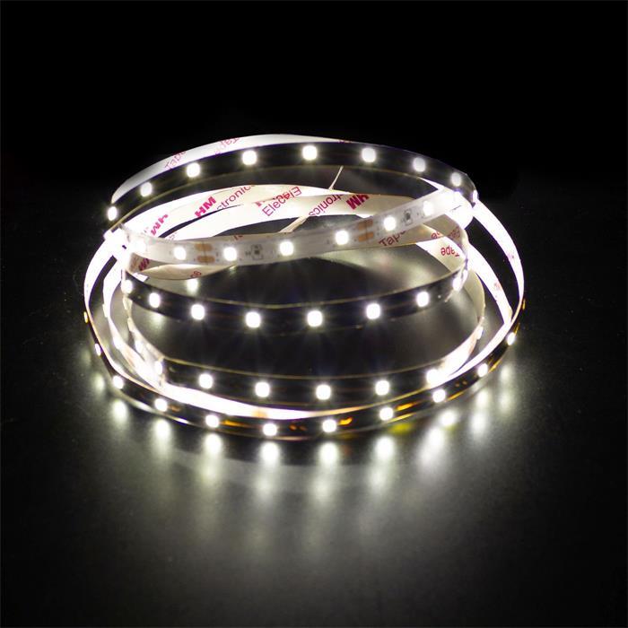 5m (500cm) LED Streifen Band Leiste 12V Neutral-Weiß 4500K IP20 300LEDs 60LED/m SMD3528