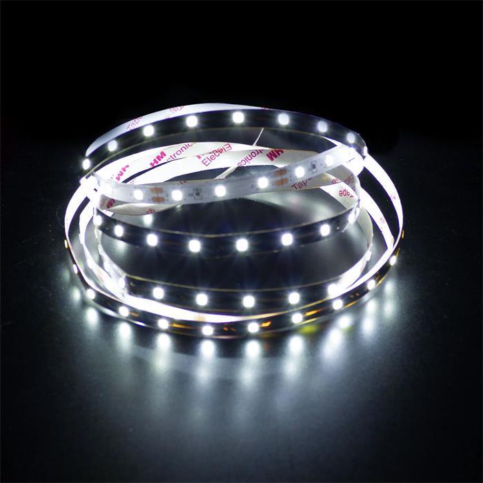 5m (500cm) LED Streifen Band Leiste 12V Kalt-Weiß 6000K IP20 300LEDs 60LED/m SMD3528