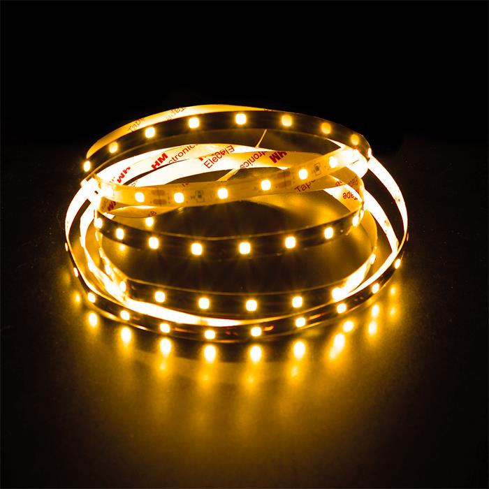5m (500cm) LED Streifen Band Leiste 12V Gelb IP20 300LEDs 60LED/m SMD3528