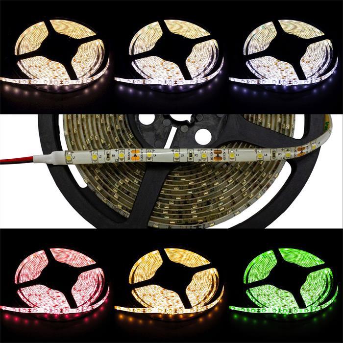 LED Streifen Band Leiste 500cm 5m ; 24V Wasserfest IP65 300LEDs