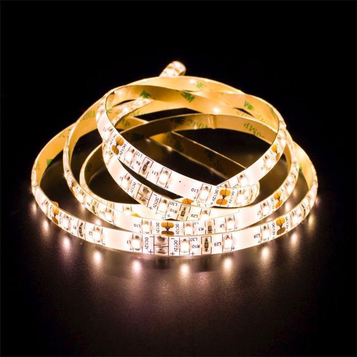 LED Streifen Band Leiste 500cm 5m ; 24V IP65 300LEDs ; Warm Weiß 3000K