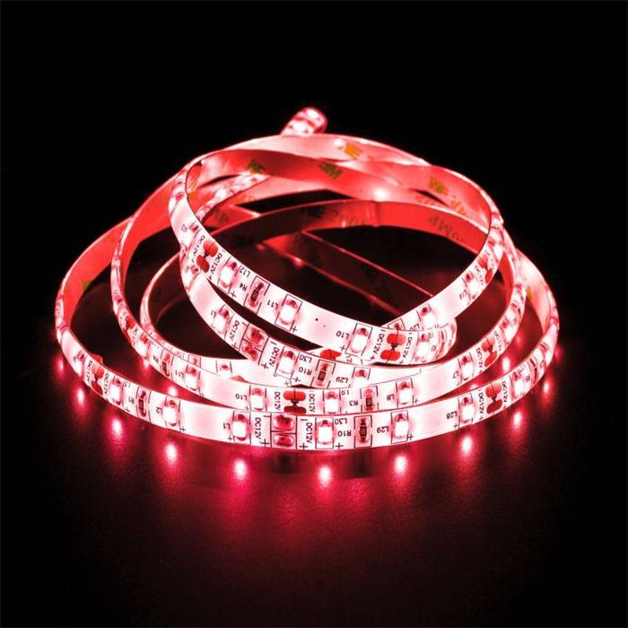 5m (500cm) LED Streifen Band Leiste 12V Rot IP65 300LEDs 60LED/m SMD3528