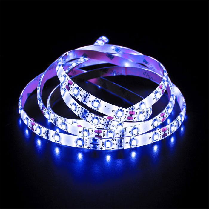 5m (500cm) LED Streifen Band Leiste 12V Blau IP65 300LEDs 60LED/m SMD3528