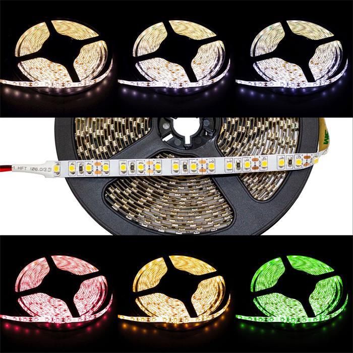 LED Streifen Band Leiste 500cm 5m ; 24V IP20 600LEDs