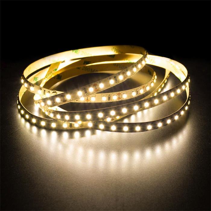 5m (500cm) LED Streifen Band Leiste 12V Warm-Weiß 3000K IP20 600LEDs 120LED/m SMD3528
