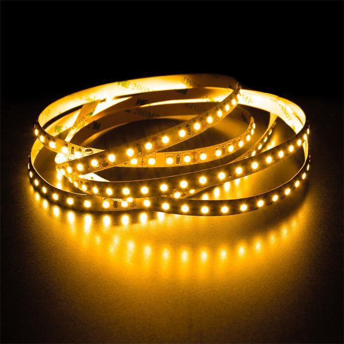 5m (500cm) LED Streifen Band Leiste 12V Gelb IP20 600LEDs 120LED/m SMD3528