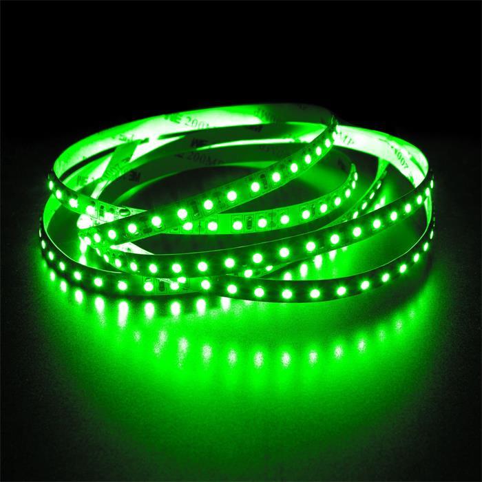 5m (500cm) LED Streifen Band Leiste 12V Grün IP20 600LEDs 120LED/m SMD3528