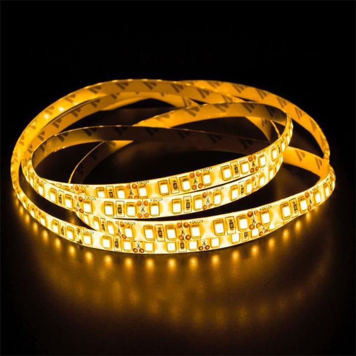 LED Streifen Band Leiste 500cm 5m ; 24V Wasserfest IP65 600LEDs ; Gelb