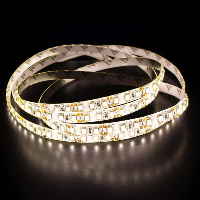5m (500cm) LED Streifen Band Leiste 12V Warm-Weiß 3000K IP65 600LEDs 120LED/m SMD3528