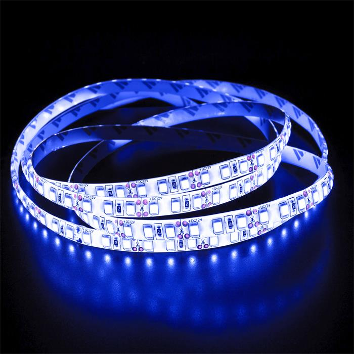 5m (500cm) LED Streifen Band Leiste 12V Blau IP65 600LEDs 120LED/m SMD3528