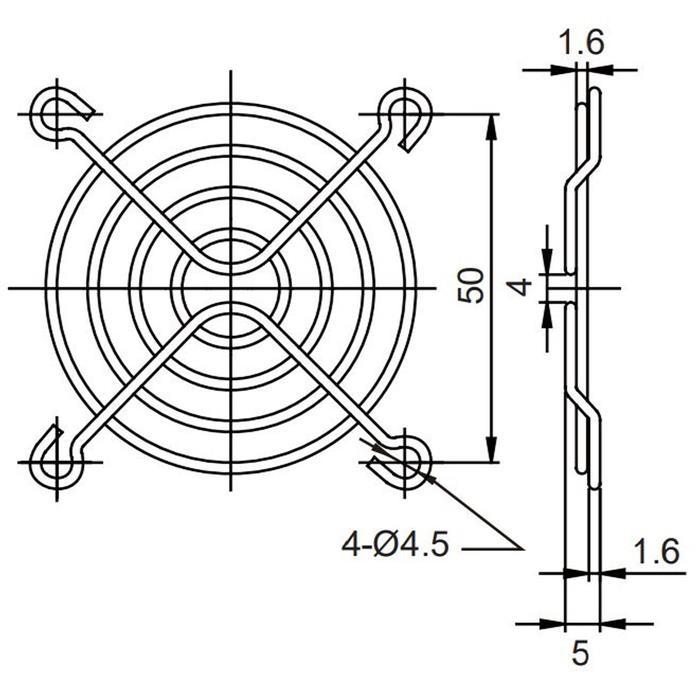 Lüftergitter 60x60mm für Axiallüfter 60x60x10mm 60x60x15mm 20mm 25mm
