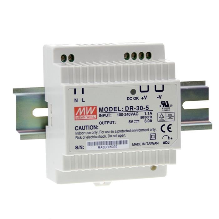 MeanWell DR-30-5 15W 5V 3A Hutschienen Netzteil DIN-RAIL
