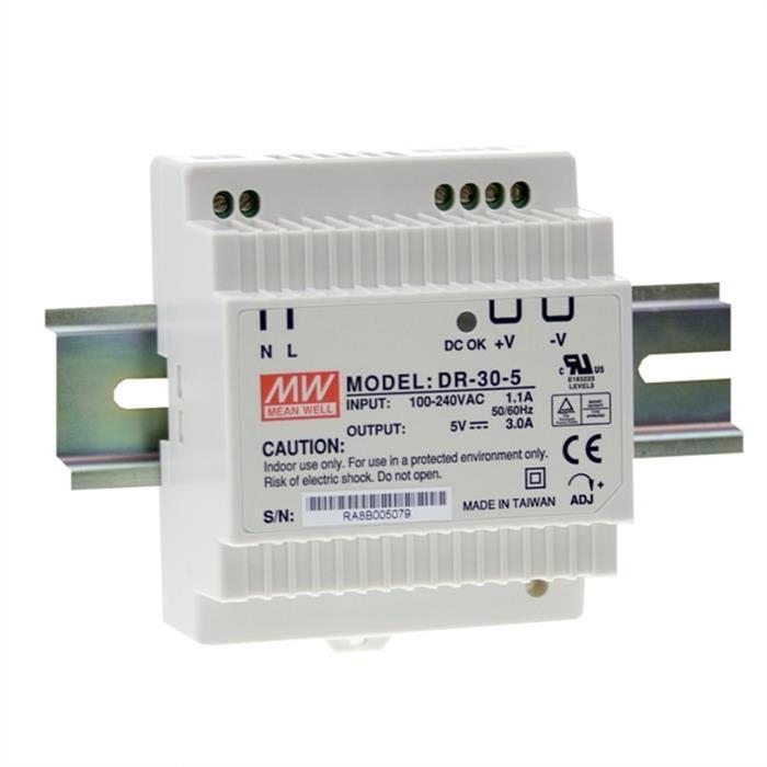 MeanWell DR-30-15 30W 15V 2A Hutschienen Netzteil DIN-RAIL